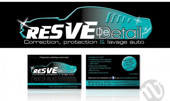 Logo Resve de detail + réalisation carte de visite