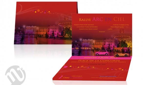 Invitation soirée Rallye Arc en ciel