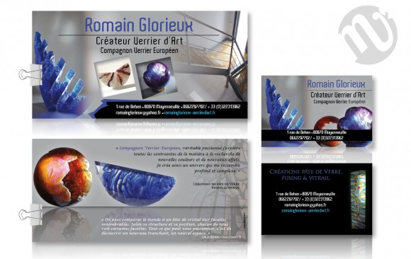 Flyer Romain Glorieux + carte