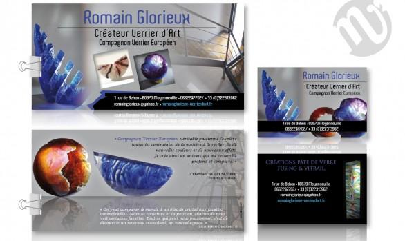 Flyer Romain Glorieux + carte